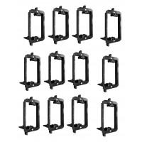 Best Mounts Low Voltage Mounting Bracket 1 Gang Multipurpose Drywall Mounting Wall Plate Bracket – (Single Gang, 10 Pack)