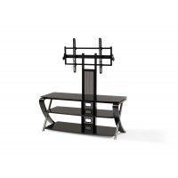 "BEST Wood Home Theater Stand with 37-55"" TV Mount"