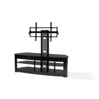"""BEST Wood Home Theater Stand with 42-70"""" TV Mount"""