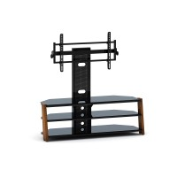 "BEST Wood Home Theater Stand with 37-60"" TV Mount"