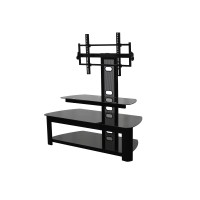 "BEST Wood Home Theater Stand with 37-52"" TV Mount"